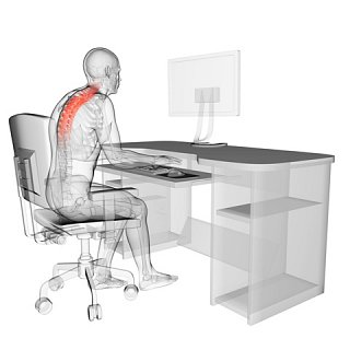 Upper Back Pain from sitting